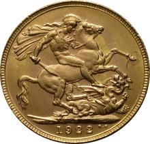 1922 Gold Sovereign - King George V - P