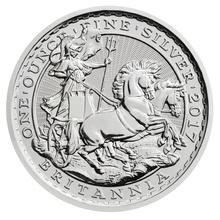 1997 - 2017 1oz Silver Britannia 20th Anniversary Chariot Design Coin