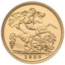 Gold Proof 1986 Half Sovereign Boxed