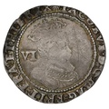 1606 James 1 Silver Sixpence mm escallop