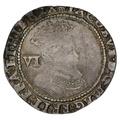 1606 James 1 Silver Sixpence mm escallop