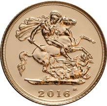 2 x 2016 Gold Half Sovereigns