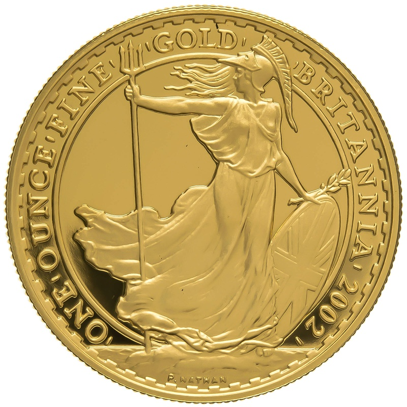 2002 One Ounce Proof Britannia Gold Coin