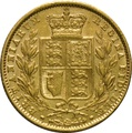 1860 Gold Sovereign - Victoria Young Head Shield Back - London
