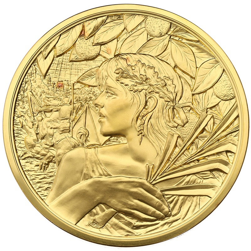 2010 The Royal Mint St George and the Dragon Masterpiece 10oz Gold Medal Boxed