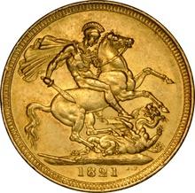 1821 Gold Sovereign - George IV Laureate Head NGC AU55