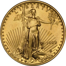 1992 Tenth Ounce Eagle Gold Coin