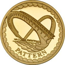 £1 One Pound Proof Gold Coin - Pattern Bridges -2003 Millennium