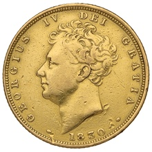 1830 Gold Sovereign - George IV Bare Head