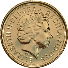 2009 Gold Half Sovereign Elizabeth II Fourth Head