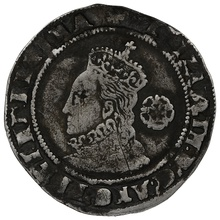 1575 Queen Elizabeth I Hammered Silver Sixpence - mm Eglantine