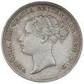 1886 YH  Queen Victoria Silver Sixpence