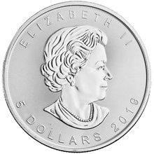 2019 1oz Canadian Maple Silver Coin
