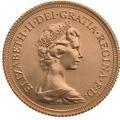 1975 Gold Half Sovereign