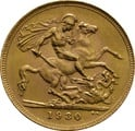 1930 Gold Sovereign - King George V - SA