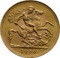 1930 Gold Sovereign - King George V - SA