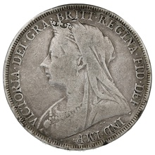 1896 Queen Victoria Silver Crown