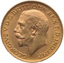 1934 Gold Half Sovereign