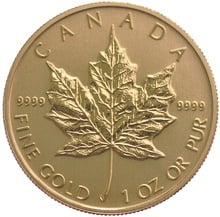 1oz Gold Canadian Maple Best Value