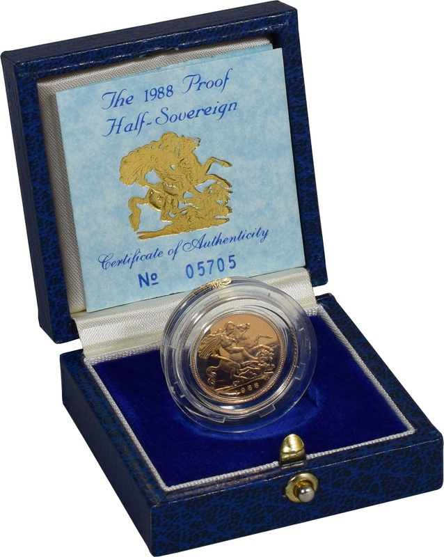 Gold Proof 1988 Half Sovereign Boxed