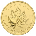 2007 1oz Canadian Maple Gold Coin 99999