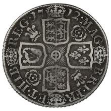 1712 Queen Anne Silver Shilling