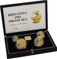 1993 Proof Britannia Gold 4-Coin Set Boxed