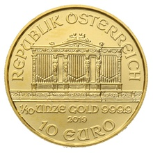 2019 Tenth Ounce Austrian Gold Philharmonic Coin Gift Boxed