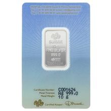 PAMP 10 Gram Silver Lakshmi Bar Minted