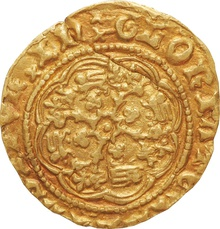 Richard II Gold Quarter Noble - Fine