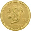 1kg Gold Australian Year of the Snake 2001