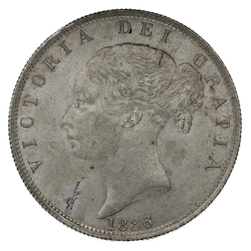 1886 Queen Victoria Silver Halfcrown