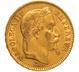 1867 20 French Francs - Napoleon III Laureate Head - BB