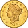 1883 $20 Double Eagle Liberty Head Gold Coin, San Francisco