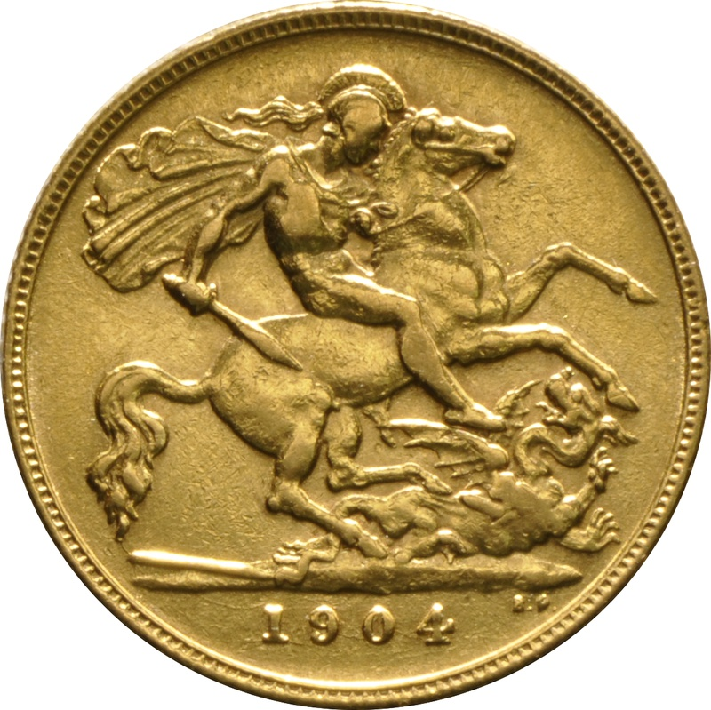 1904 Gold Half Sovereign - King Edward VII - London
