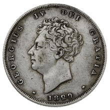 1829 George IV Silver Shilling