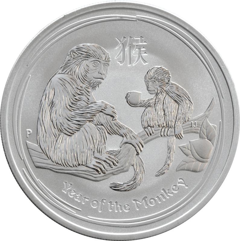 2016 1oz Australian Lunar Year of the Monkey Silver Coin