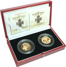 Gold Proof 2006 Fifty Pence Piece - Victoria Cross (2 coin) Boxed