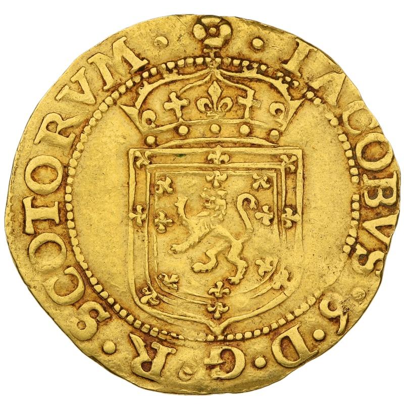 1602 Scotland James VI Gold Sword and Sceptre Piece