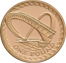 £1 One Pound Proof Gold Coin - Bridges -2007 Millennium