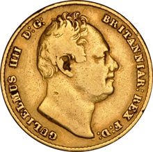 1836 Gold Sovereign - William IV NGC VF30