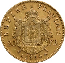 20 French Francs - Napoleon III Laureate Head