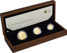 2011 Proof Britannia Gold 3-Coin Set Boxed