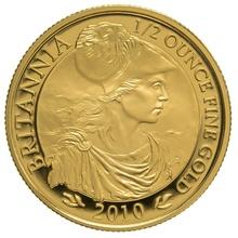 2010 Half Ounce Proof Britannia Gold Coin