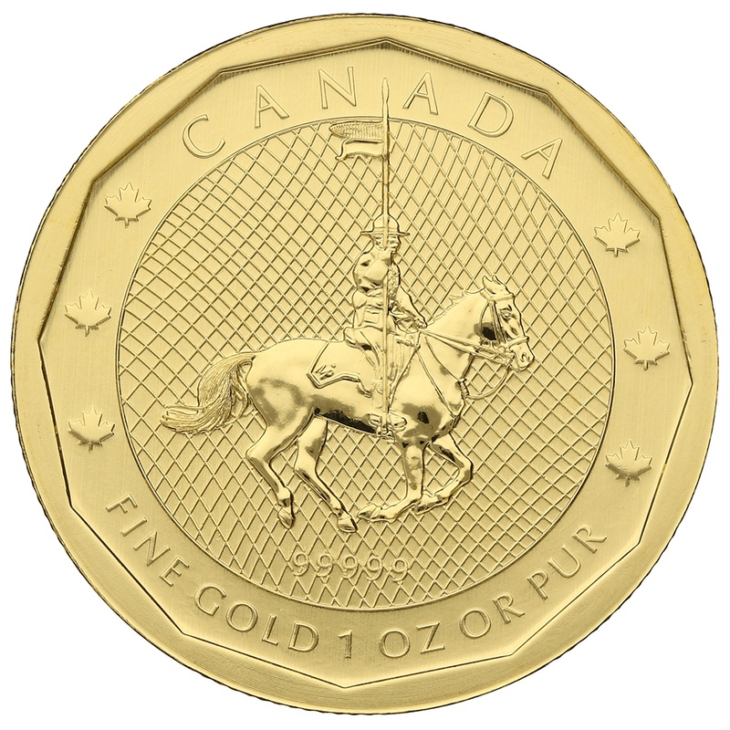 2011 1oz Canadian Mountie Gold Coin 99999