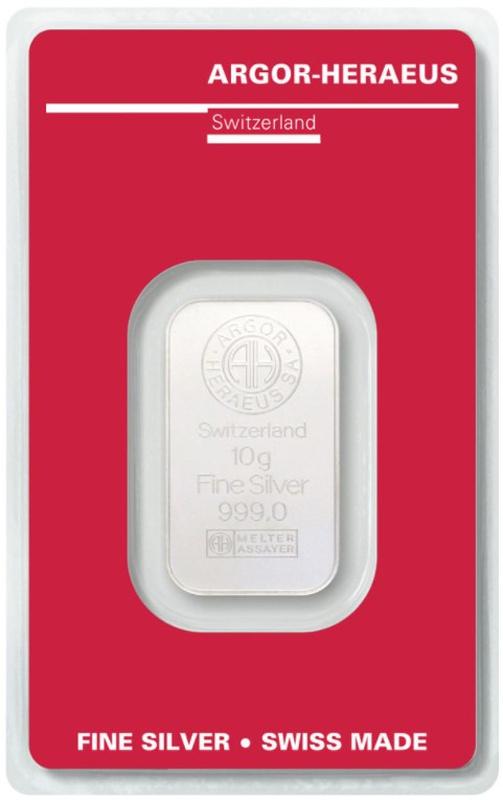 Argor-Heraeus 10 Gram Silver Bar