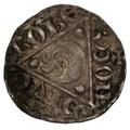 1207-11 King John Hammered Silver Penny Roberd on Dublin