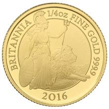 2016 Quarter Ounce Proof Britannia Gold Coin