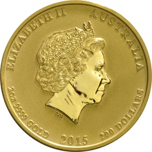 2015 2oz Australian Gold Year of the Goat Gold Coin