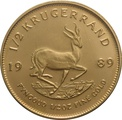 1989 Half Ounce Krugerrand Gold Coin